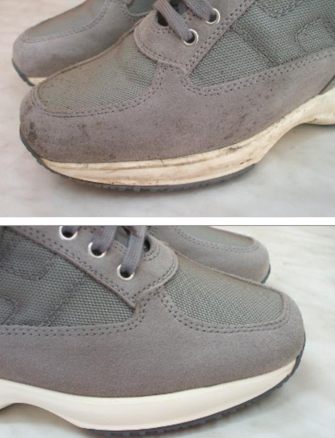 pulizia scarpe camoscio hogan