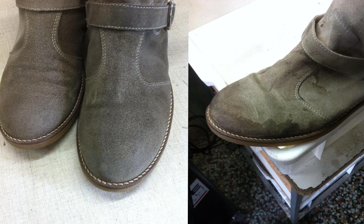 pulire scarpe hogan camoscio